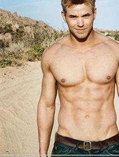 Kellan Lutz goes shirtless for Men's Health.