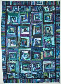"""Blueberry"" crazy quilt by Wanda S. Hanson"