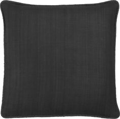 """Hayward Charcoal 18"""" Pillow    Crate and Barrel- on sale $25"""
