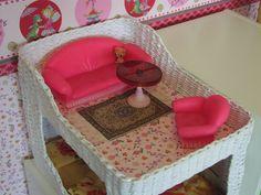 Спальня для кукол. Плетение из газет. Мои работы.