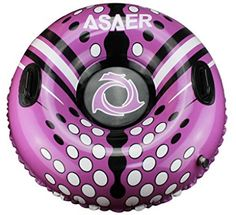 ASAER Snow Tube - Air Tube 39 Inch Inflatable Snow/Sled with Rapid Valves - Aqua Leisure Winter Inflatable Round Snow Tube with vinyl tube repair kit - With thickening bottom of Snow Sled, Baby Snowsuit, Look Good Feel Good, Hydration Pack, Camping And Hiking, Tube, Aqua, Purple, Hiking Clothes