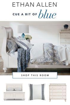Home Decor Furniture, Home Decor Bedroom, Home Furnishings, Living Room Decor, Bedroom Ideas, Corner Sofa Design, Blue Rooms, Ethan Allen, Guest Bedrooms