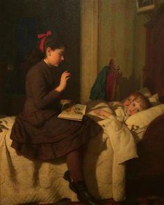 Seymour Joseph Guy (USA, 1824-1910) - A Bedtime Story, 1878