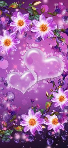 Flowery Wallpaper, Flower Background Wallpaper, Flower Phone Wallpaper, Mood Wallpaper, Heart Wallpaper, Butterfly Wallpaper, Cellphone Wallpaper, Flower Backgrounds, Colorful Wallpaper