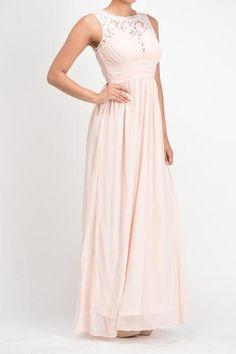 Affordable chiffon long Bridesmaid Dress Coral