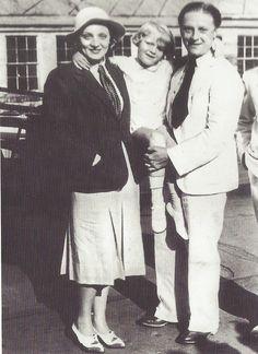 Marlène Dietrich avec son mariRudolf Sieber et leur fille Maria, 1931