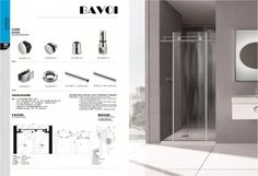 304 stainless steel shower sliding system manufacturer[SLA006]