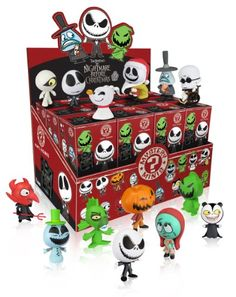 Funko Nightmare Before Christmas: PDQ Mystery Mini Figure Display, 24-Piece http://popvinyl.net #funko #funkopop #popvinyl