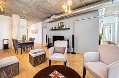 Chelsea Lofts-1375 Dupont St #207  | 2 bedroom, 2 bath corner loft with 9 ft high exposed concrete ceilings, exposed concrete columns, dual bright North and West corner exposures, laminate floors and open concept plan. 1 u/g parking included.| More info here: torontolofts.ca/chelsea-lofts-lofts-for-sale/1375-dupont-st-207 Concrete Column, Concrete Ceiling, Exposed Concrete, Loft Shop, Lofts, Laminate Flooring, Open Concept, Chelsea, Columns