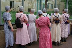 Amish young ladies out for the day~ Sarah's Country Kitchen ~