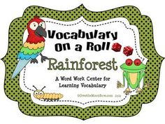 Your students will love this rainforest themed vocabulary center! A perfect complement to your themed activities. Rainforest Activities, Rainforest Theme, Speech Language Therapy, Speech And Language, Language Arts, First Grade Classroom, Classroom Themes, Learning Centers, Literacy Centers