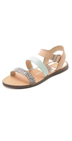 Dolce Vita Veya Flat Haircalf Sandals   SHOPBOP