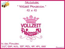 Stickdatei Stickmuster - Prinzessin 6 - 10x10
