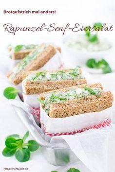 Leckerer Rapunzel-Senf-Eiersalat aus der Kategorie Salat Rezepte und zugleich auch ein Brotaufstrich von herzelieb. Feldsalat in seiner schönsten Art. #rezept #eier #salat #deutsch