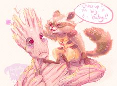 'I Am Cute': 16 Pictures That Prove Groot Is the Most Adorable Superhero   Ya Big Baby by Pumpkinfay