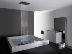 Built-in square methacrylate bathtub GRANDE QUADRA by Kos by Zucchetti design Ludovica Roberto Palomba