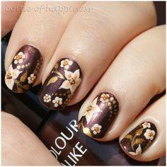 Colour Alike 10 Moonlight shadow + acrylic paint #nails #nailart
