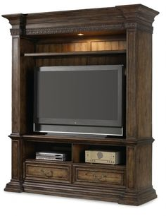 """Home Gallery Furniture for Hooker Furniture Rhapsody, Rhapsody 78"""" Entertainment Console with Hutch"""