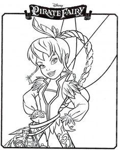 Coloriages Clochette et la Fée Pirate