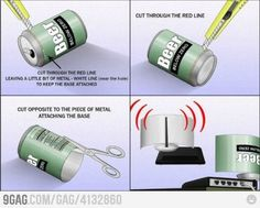 DIY Beer Can WiFi Booster and the damned thing works too! I've got 4 bars where I used to get 2!!!!
