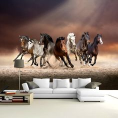buy online beautiful and quality Home decor paintings .decoration paintings and mural . high-quality original HD photograph and painting Seven Horses Painting, Horse Canvas Painting, Canvas Art, Paintings Online India, Online Painting, Stud Farm, Horse Wallpaper, Lincoln Square, Islamic Wall Art