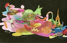"""The illustration of the leaflet for the stage named """"Ever in My Heart"""" http://hacco.hacca.jp/"""