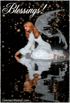 Blessings Reflecting Angel MySpace Glitter Graphic Comment