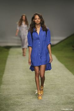 Topshop Unique SS/14 dazzling blue shirt dress