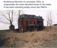 Abandoned Ohio, Old Abandoned Buildings, Abandoned Places, Abandoned Castles, Scary Houses, Spooky House, Most Haunted Places, Spooky Places, Lancaster Ohio