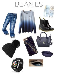 """true blue"" by apeifley-1 on Polyvore featuring Tommy Hilfiger, Dr. Martens, Black, Apple, Marc Jacobs and Jeffree Star"
