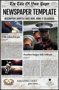39 best newspaper templates images on pinterest newspaper names