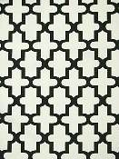 Black and White Outdoor Fabric - Matouk Black