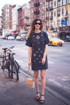 People Tree. Andrea Embroidered Dress. AW15. www.peopletree.co.uk. via heylilahey