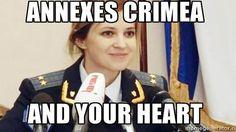 One of many popular Natalia Poklonskaya memes.