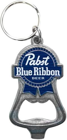 PBR Pabts Blue Ribbon Brewing KEYCHAIN Official Logo BOTTLE OPENER Craft Beer