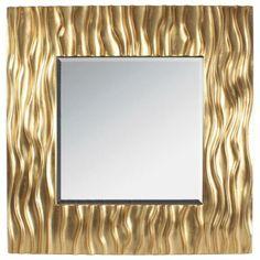 Shiny golden wall mirror