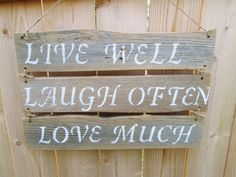 Live Laugh Love Sign Rustic Wood Sign by DivineRusticCreation, $45.00