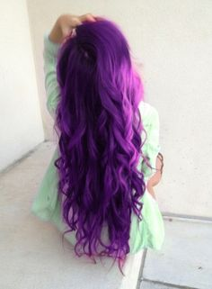 purple hair!! so bright and fun. Wish there was a way I could do this and still have a job