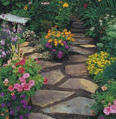 I would love to have this wondering flower garden.