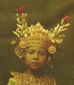 Nine years old Balinese dancer.