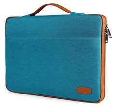 """ProCase 13 - 13.5 Inch Sleeve Cover Protective Bag for Surface Book, Macbook Air/ Macbook Pro Sleeve Ultrabook Notebook Carrying Case Handbag for 13"""" Macbook Air, MacBook Pro (Retina) (Teal / Brown)"""