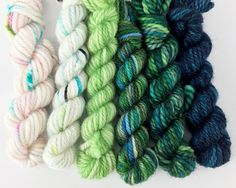 What the Fade? - Spring in your Step Kit Yarn Inspiration, Finger Weights, Hand Dyed Yarn, Knitting Patterns, My Favorite Things, Spring, Garden, Products, Yarns