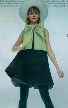 1967 Vogue Paris March 1967 Jean Shrimpton in Lanvin by David Bailey