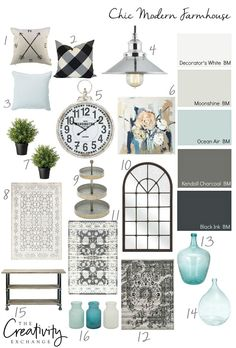Monday: Transitional Coastal Design Add a chic twist to modern farmhouse design with these paint colors and accessories.Add a chic twist to modern farmhouse design with these paint colors and accessories. Coastal Living Rooms, Living Room Modern, Living Room Designs, Small Living, Bedroom Modern, Bedroom Designs, Kitchen Living, Modern Farmhouse Design, Farmhouse Chic