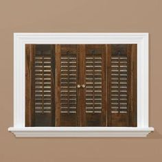 Amazing HomeBASICS Traditional Real Wood Walnut Interior Shutter (Price Varies By  Size) QSTD3120 At The Home Depot   Mobile
