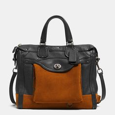 Coach  RHYDER 33 COLORBLOCK SATCHEL IN LEATHER 750