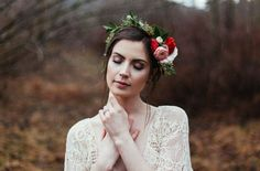 bohemian winter styled bridal shoot by Jessica Whitaker