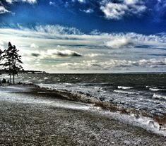 An angry St. Mary's Bay, near Weymouth, Nova Scotia.