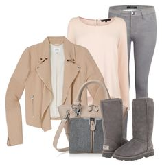 outfit by mkomorowski on Polyvore featuring polyvore fashion style Coast Wilfred J Brand UGG Australia Danielle Nicole