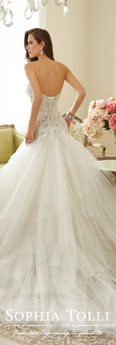 The Sophia Tolli Spring 2015 Wedding Dress Collection - Style No. Y11560 Ibis www.sophiatolli.com #weddingdresses